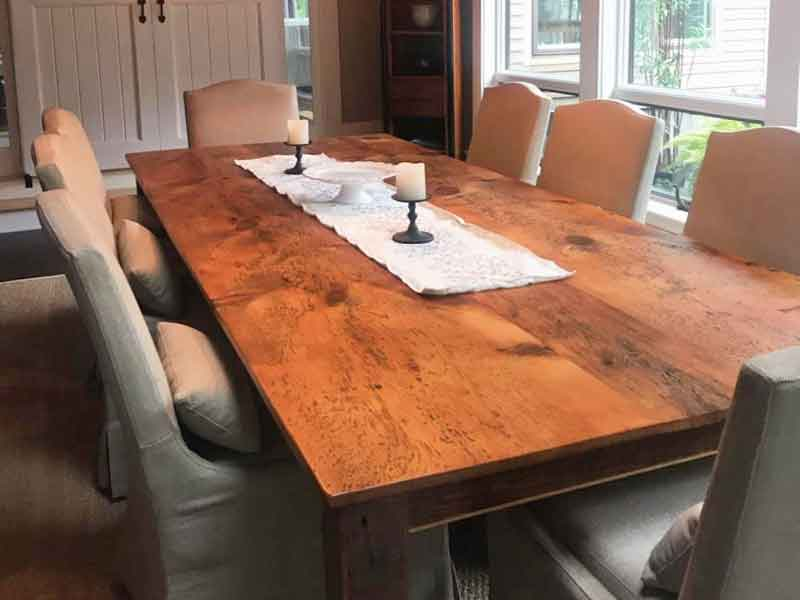 Dining room-farm-table